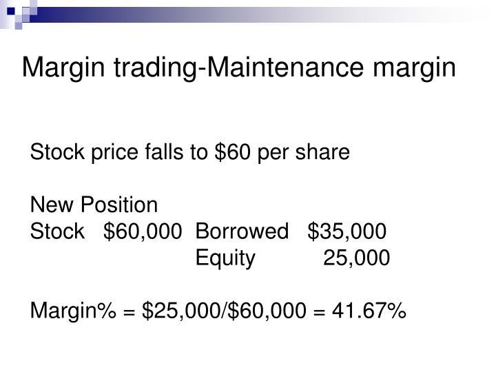 Margin trading-Maintenance margin