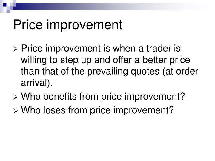 Price improvement
