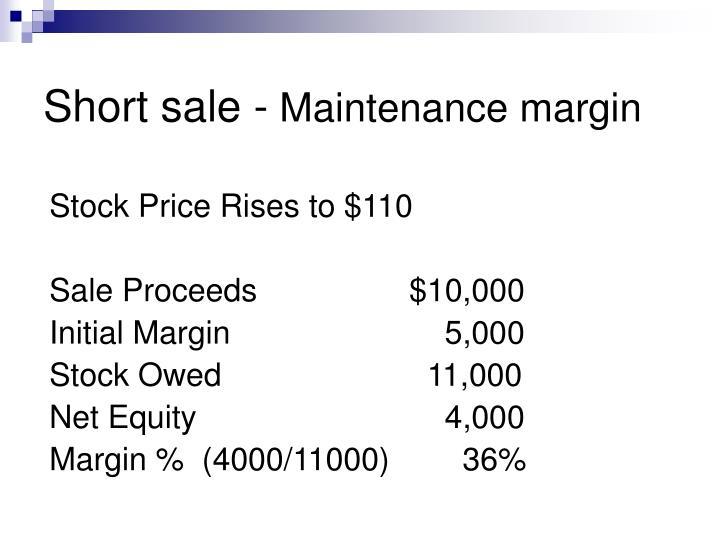 Short sale -