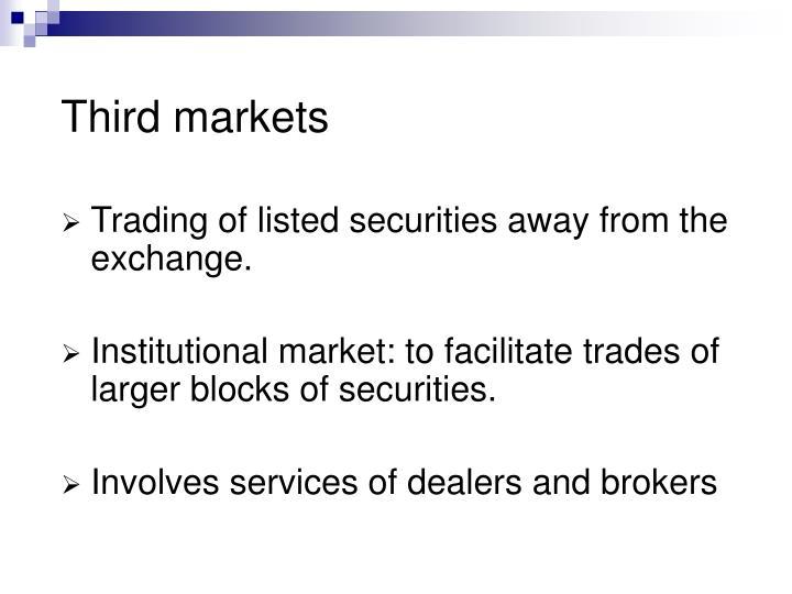 Third markets