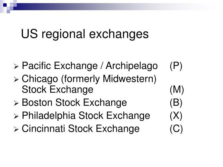 US regional exchanges
