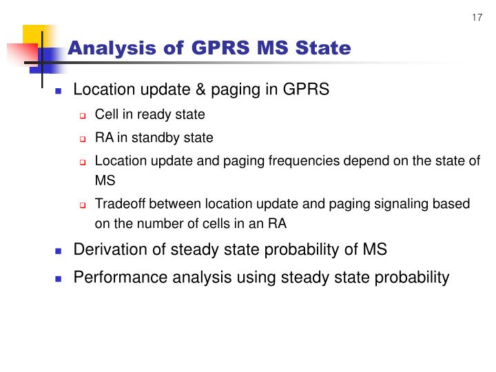 Analysis of GPRS MS State