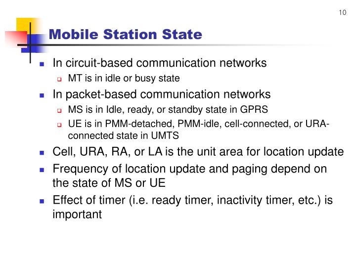 Mobile Station State