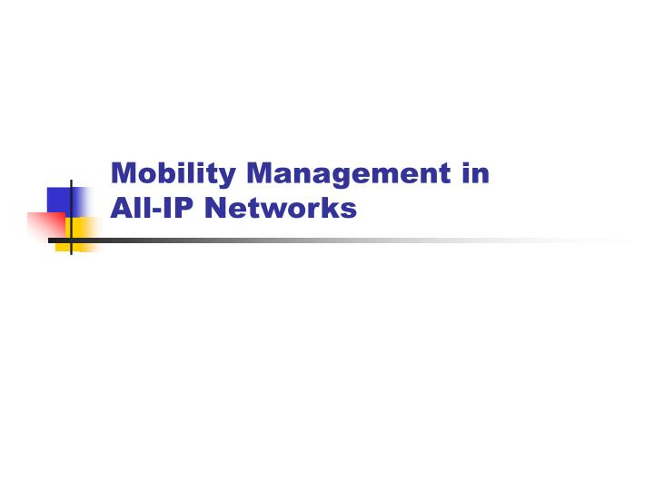 Mobility Management in