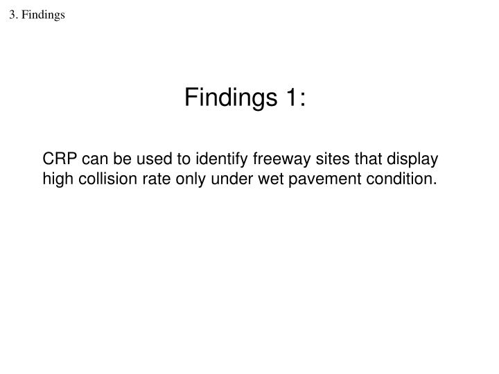 3. Findings