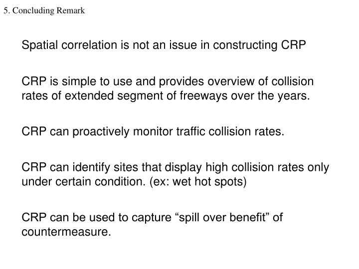 Spatial correlation is not an issue in constructing CRP