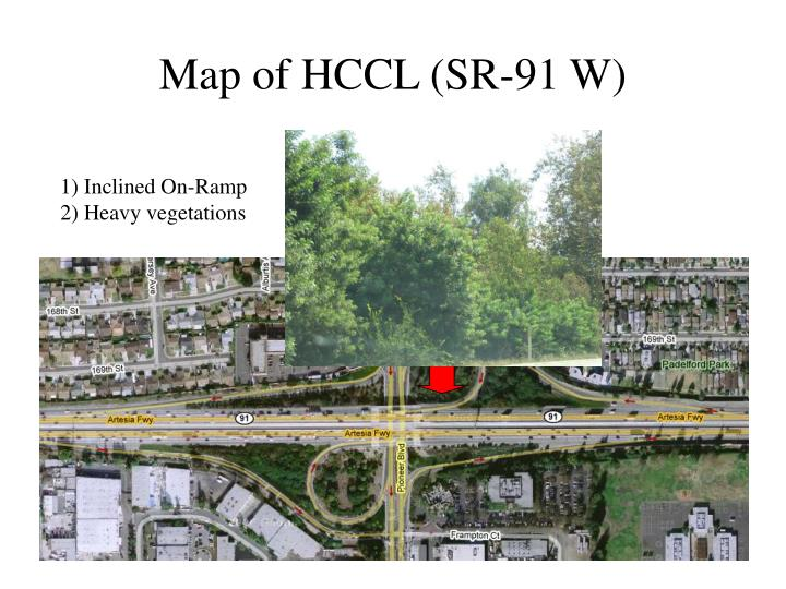 Map of HCCL (SR-91 W)
