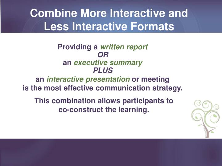 Combine More Interactive and