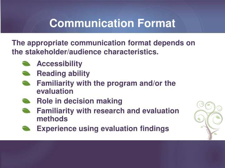 Communication Format