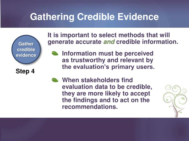 Gathering Credible Evidence