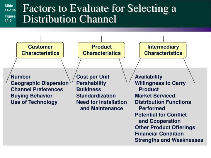 Factors to Evaluate for Selecting a Distribution Channel