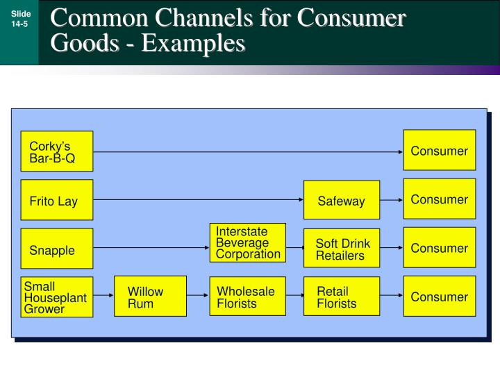 Common Channels for Consumer Goods - Examples