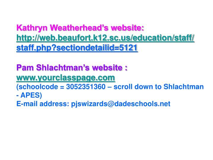 Kathryn Weatherhead's website: