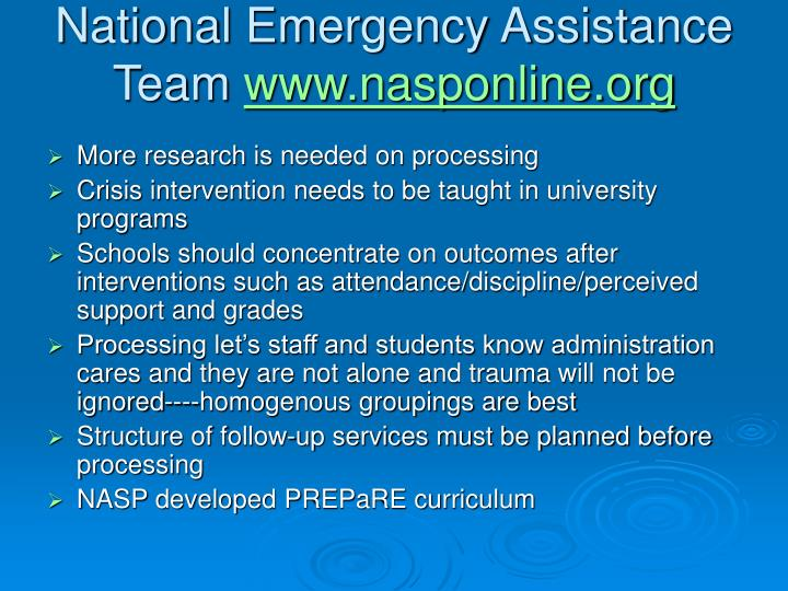 National Emergency Assistance Team