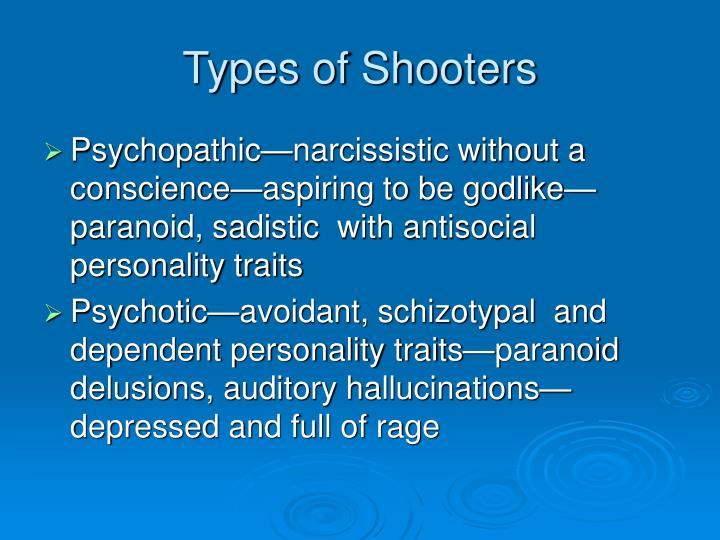 Types of Shooters