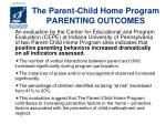the parent child home program parenting outcomes