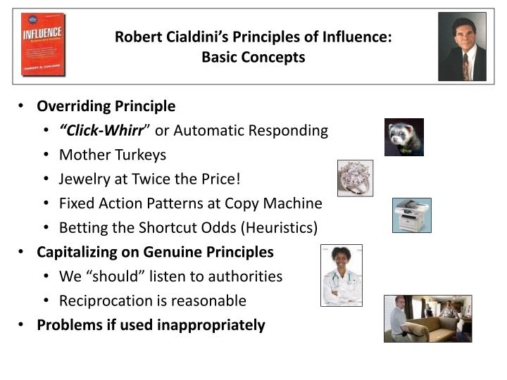 robert cialdini s principles of influence basic concepts