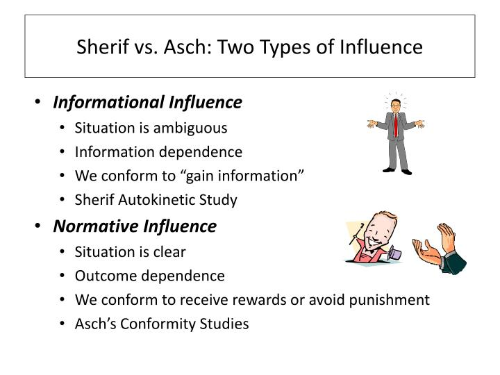 Sherif vs. Asch: Two Types of Influence