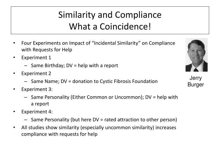 Similarity and Compliance