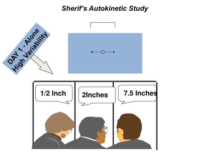 Sherif's Autokinetic Study