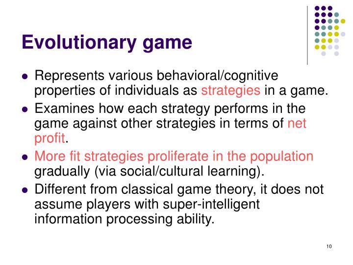 Evolutionary game