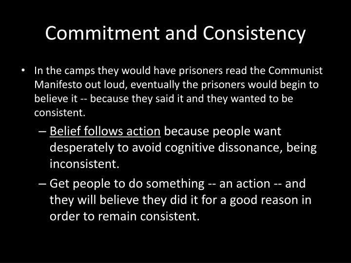 Commitment and Consistency