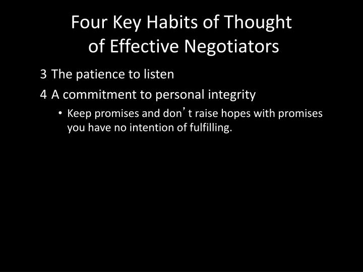 Four Key Habits of Thought