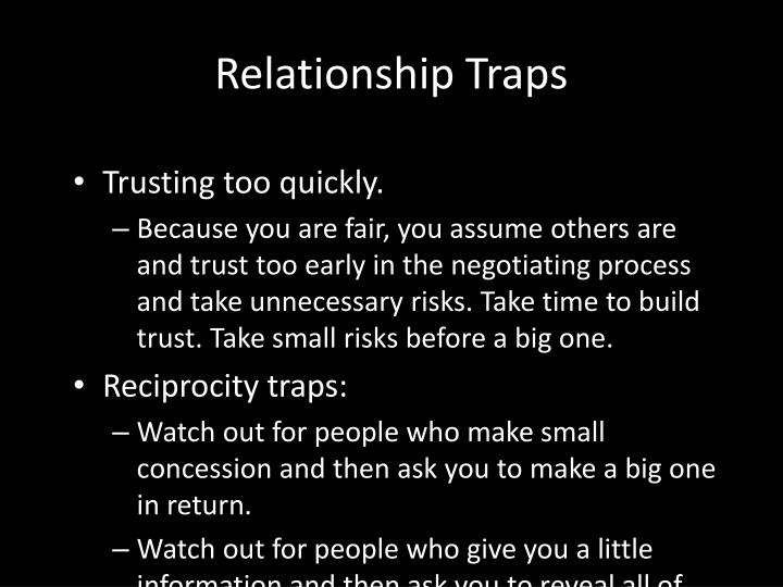 Relationship Traps