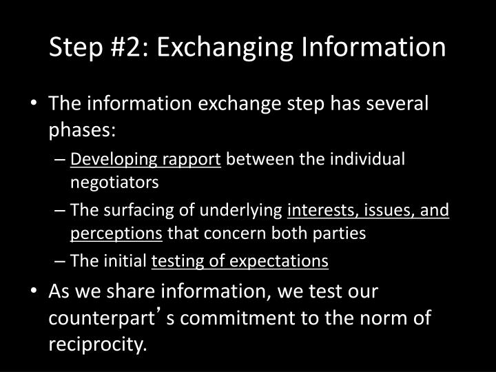 Step #2: Exchanging Information