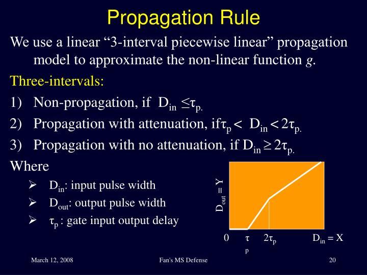 Propagation Rule