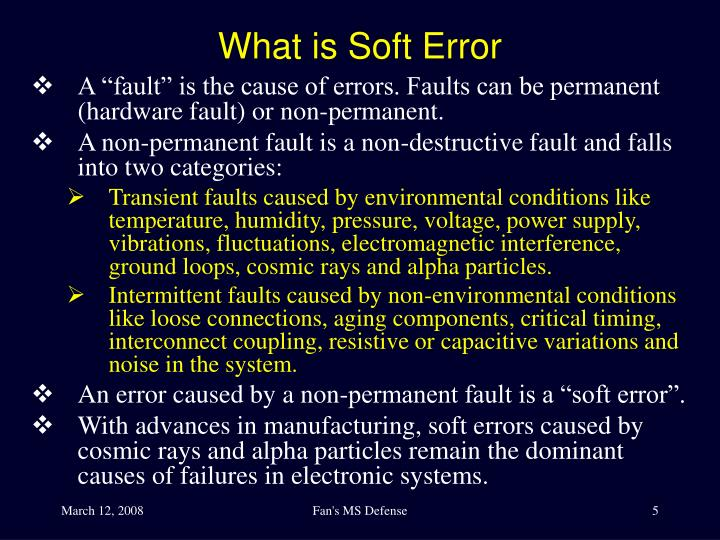 What is Soft Error