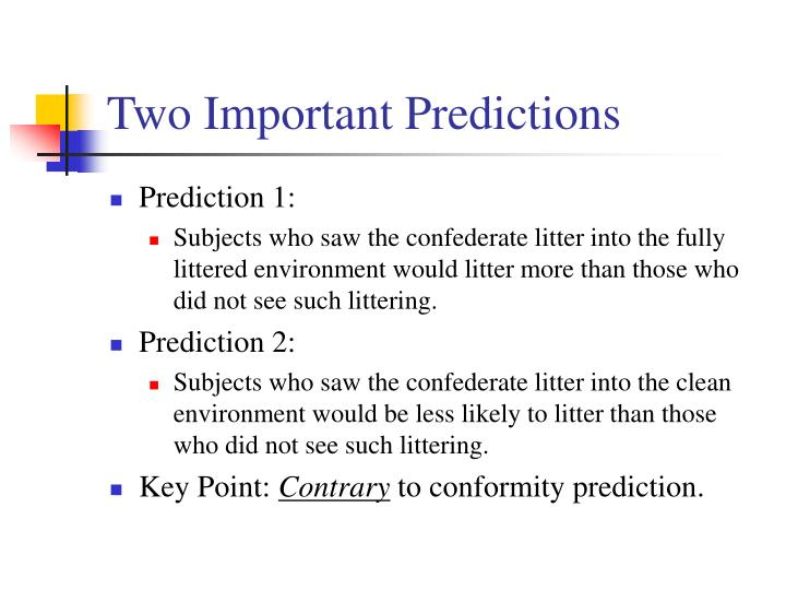 Two Important Predictions