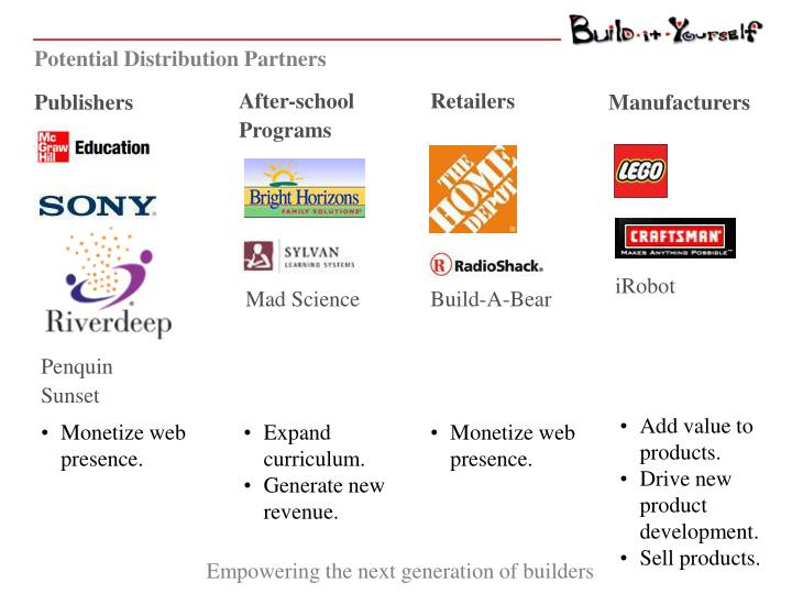 Potential Distribution Partners
