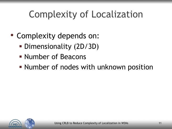 Complexity of Localization