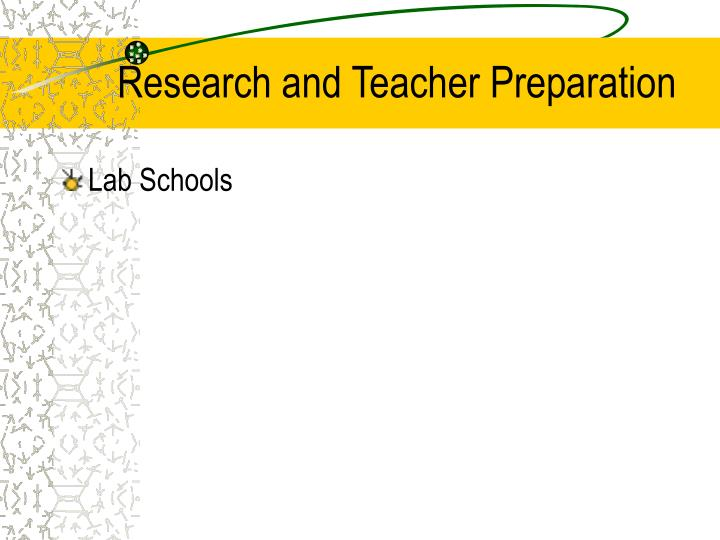 Research and Teacher Preparation
