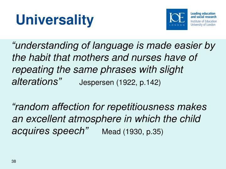 Universality