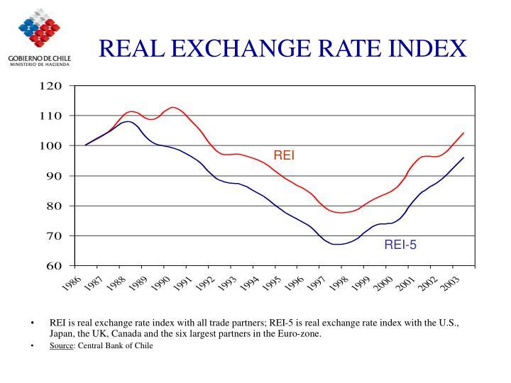 REAL EXCHANGE RATE INDEX