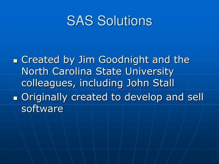 SAS Solutions