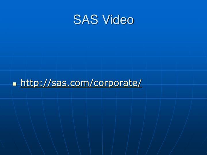 SAS Video