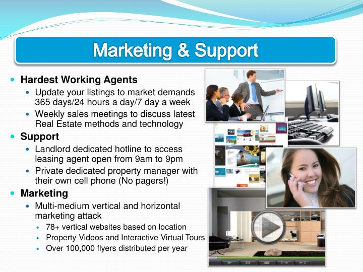 Marketing & Support