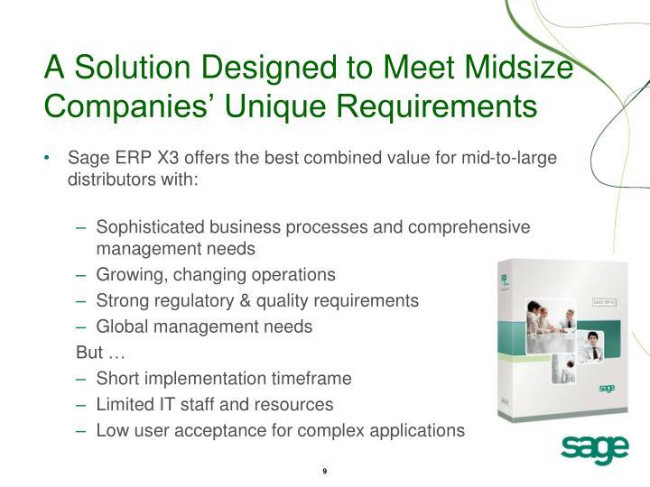 A Solution Designed to Meet Midsize Companies' Unique Requirements