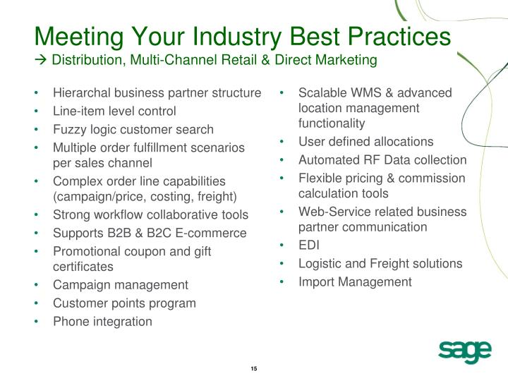 Meeting Your Industry Best Practices