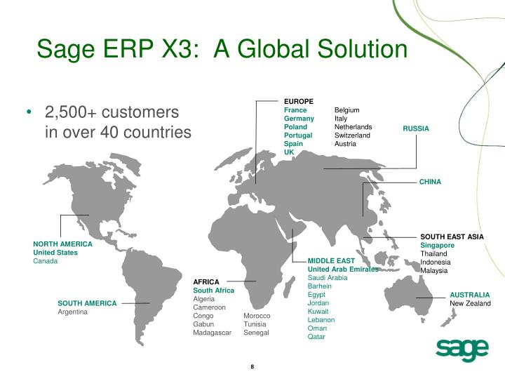 Sage ERP X3:  A Global Solution