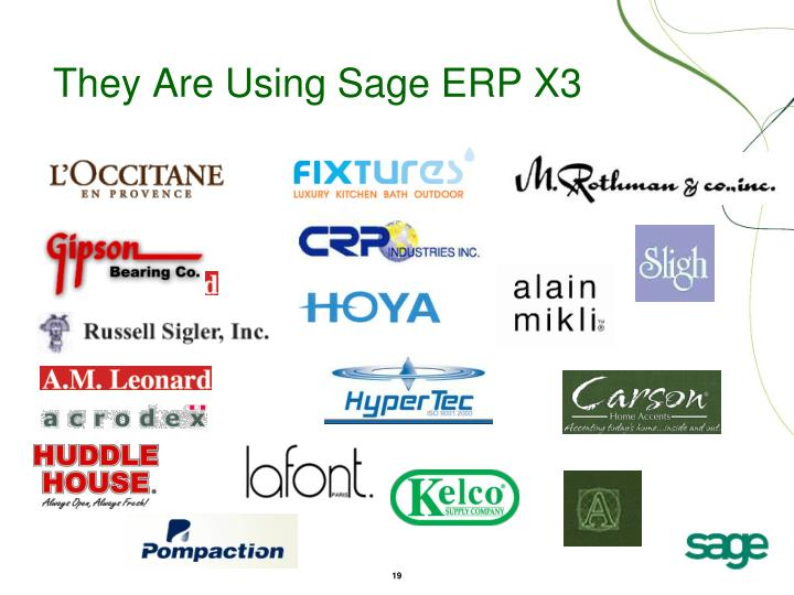 They Are Using Sage ERP X3