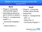 models of service provision across the county pct