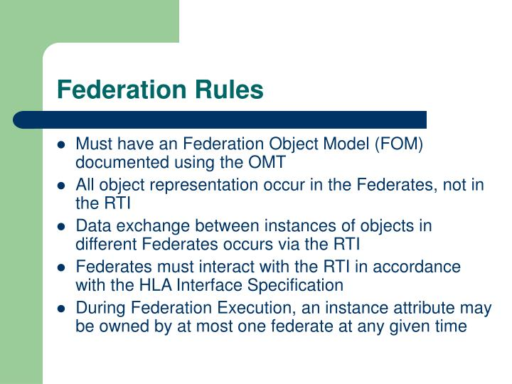 Federation Rules