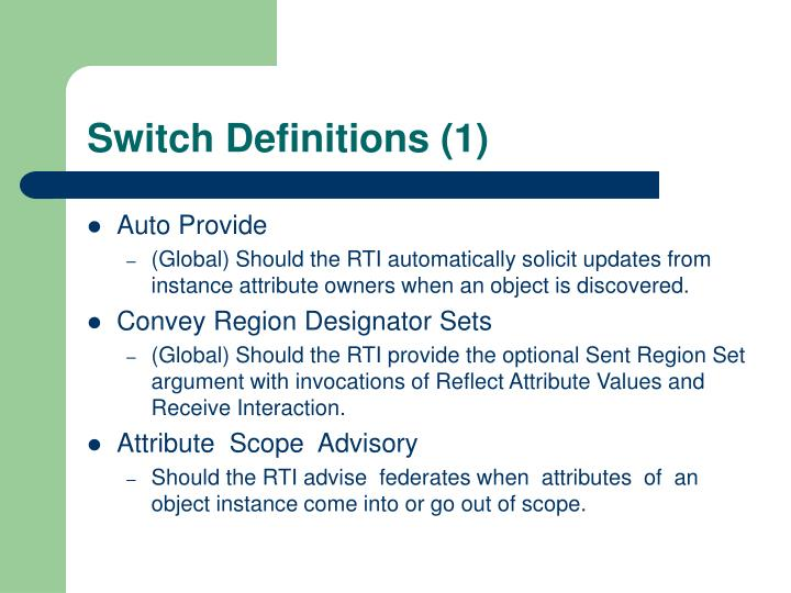 Switch Definitions (1)