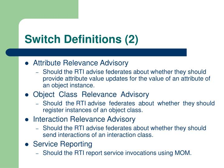 Switch Definitions (2)