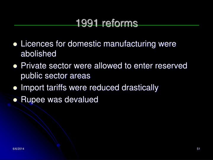 1991 reforms