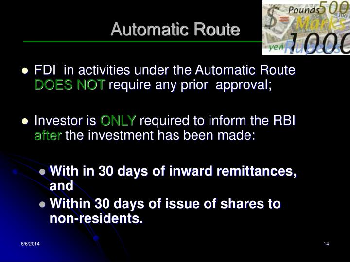 Automatic Route